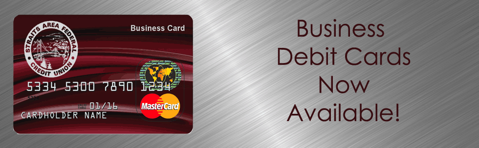 Business Debit Cards now available!