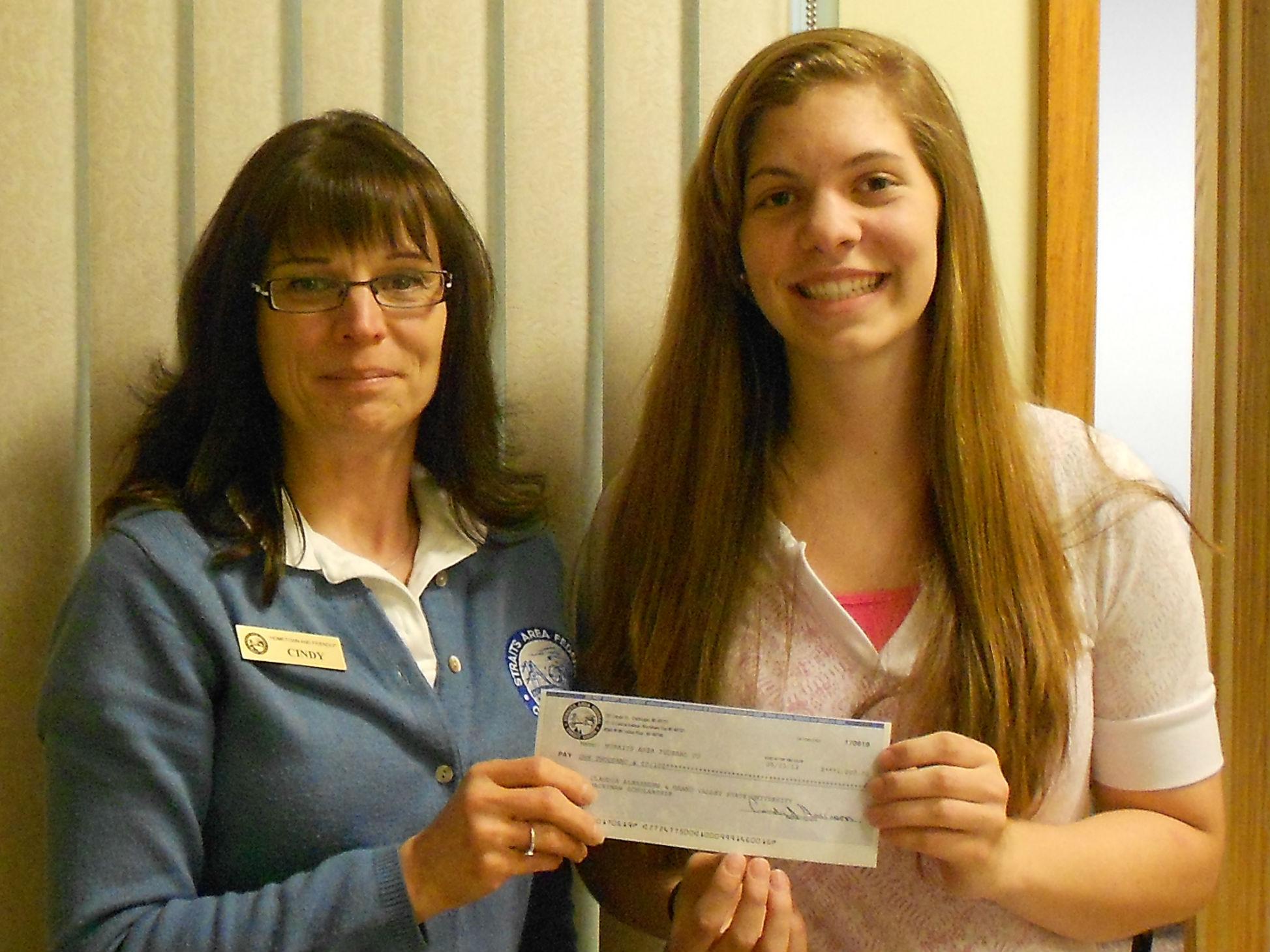 Mackinaw City Scholarship Winner Claudia Alexander